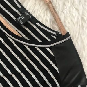 Forever 21 small black and gray stripe sleeveless